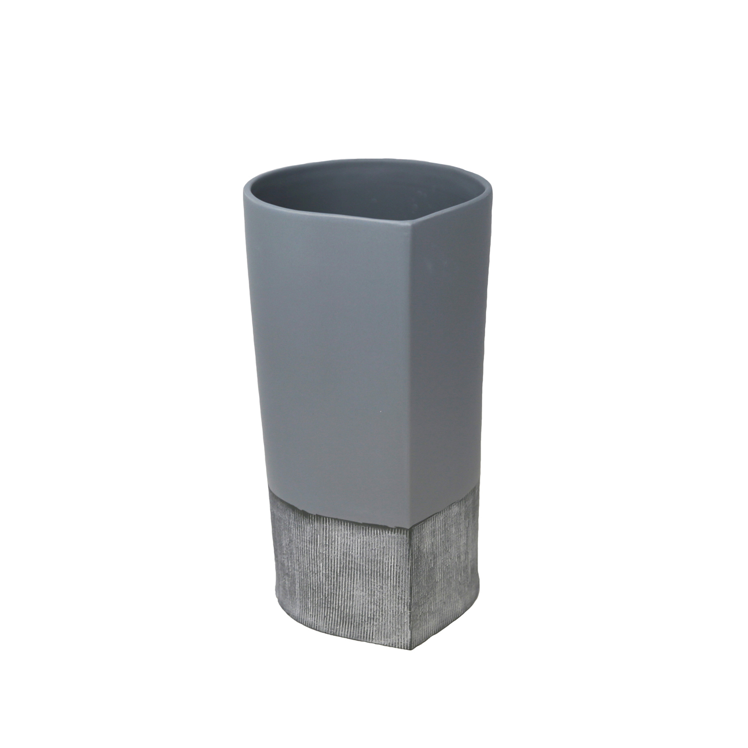 variation thumbnail of Matte Gray & Silver Vase
