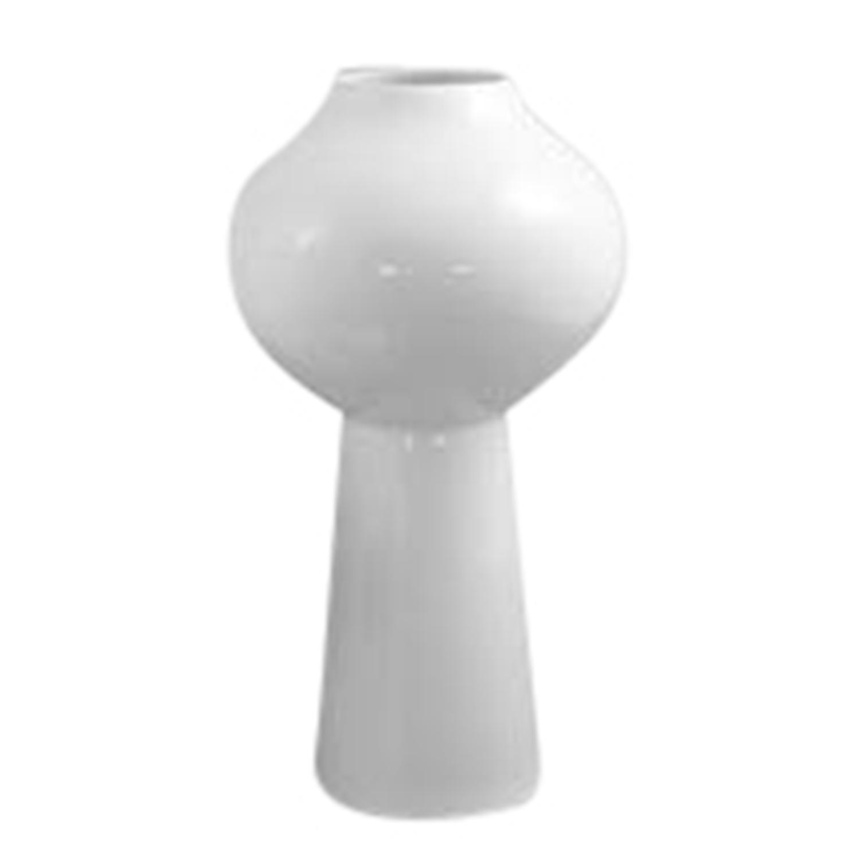 White Mushroom Vase