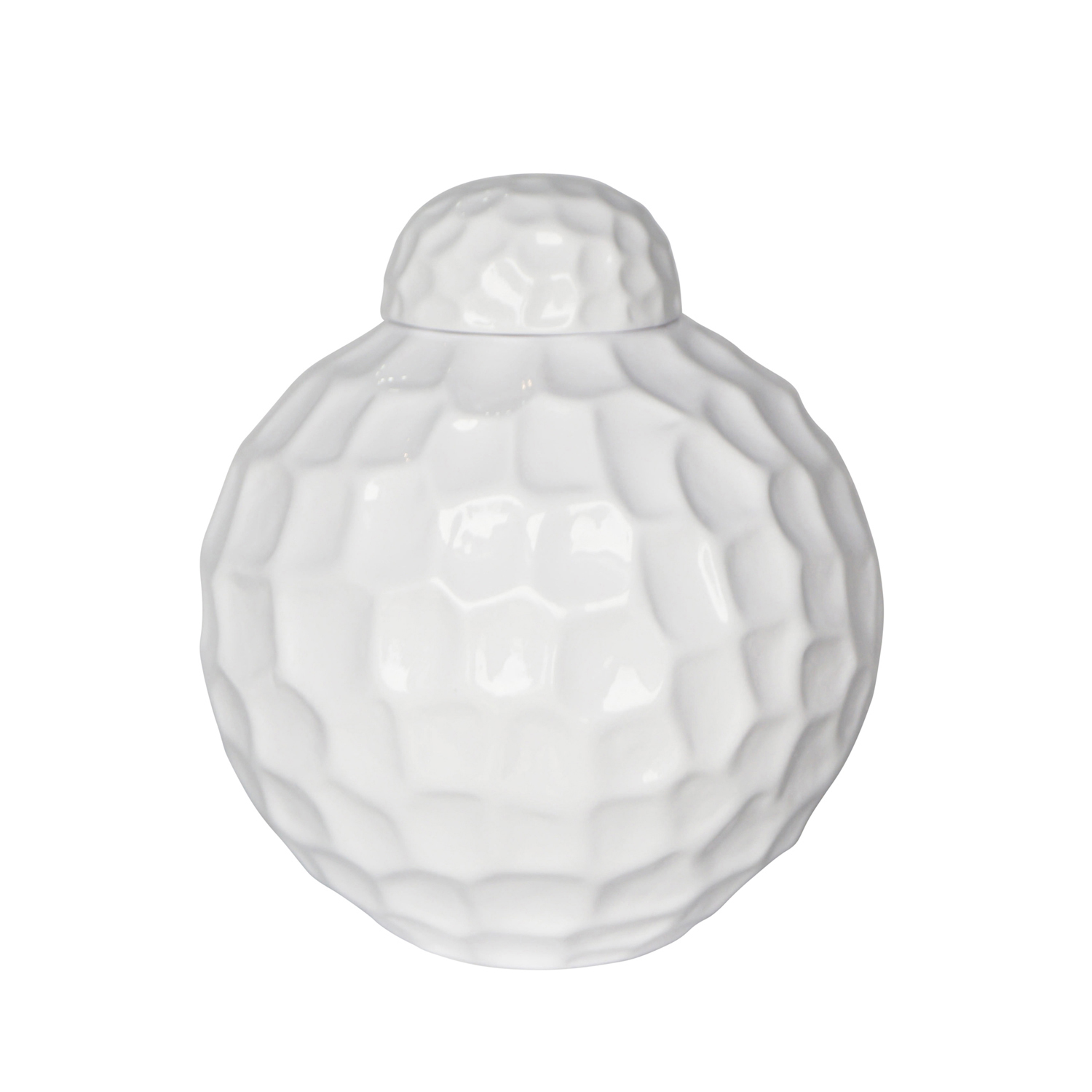 variation thumbnail of Rotund Pitted Ceramic Jar