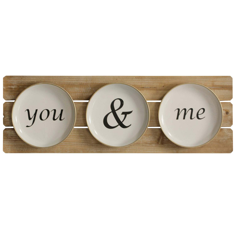 You & Me Farmhouse Plates Wall Decor