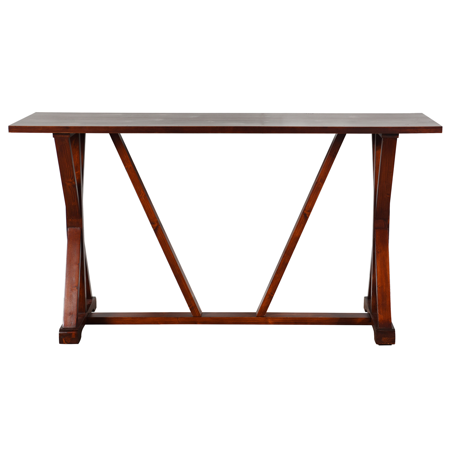 Dark Brown Wooden Console Table