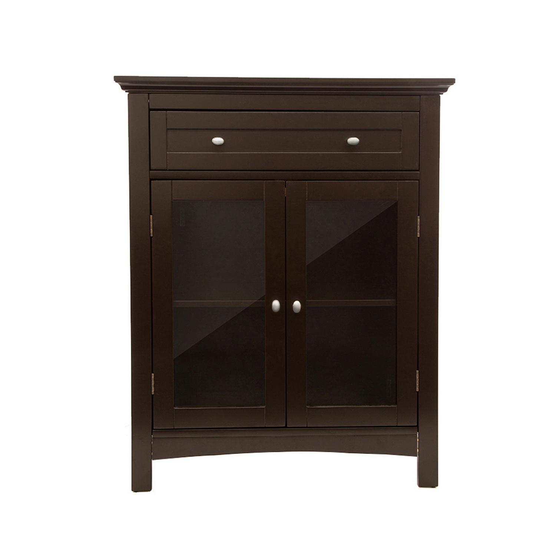 Espresso Double-Door Storage Cabinet