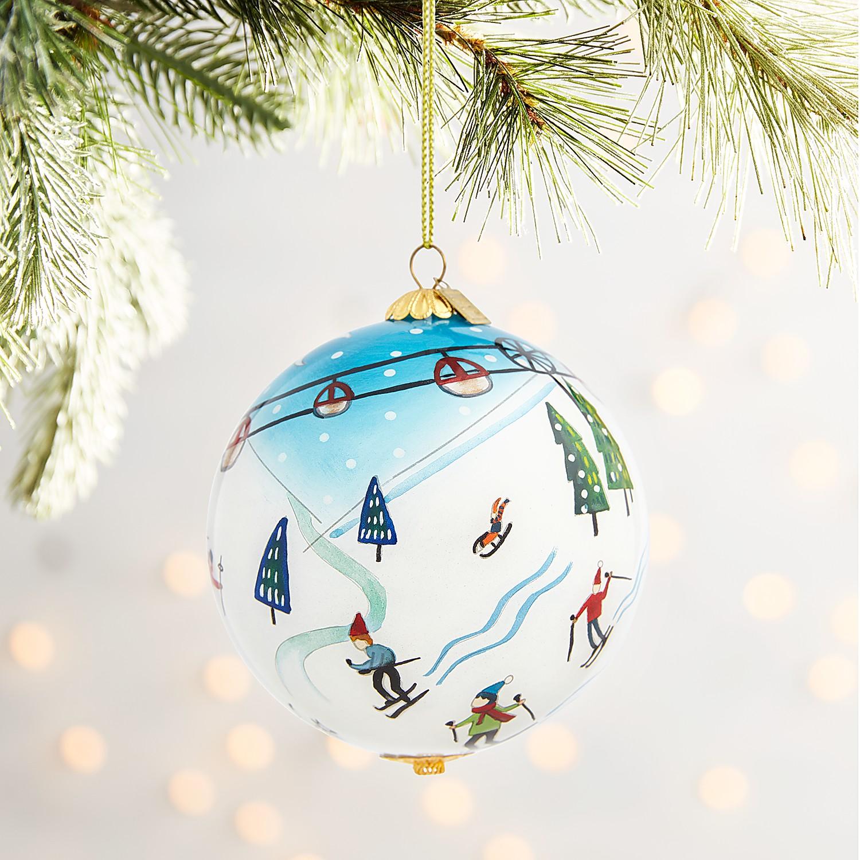 Li Bien Ski Scene Ornament