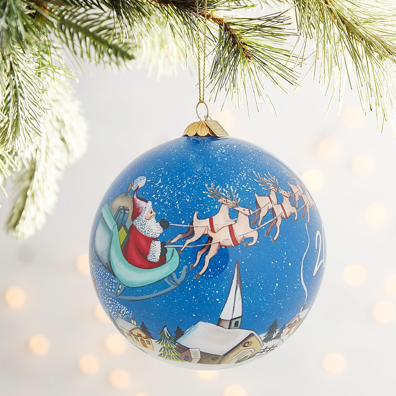 Li Bien Santa Scene Ornament