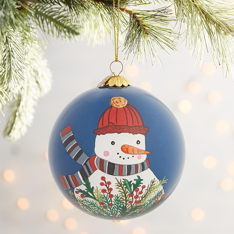 Li Bien Holly Snowman Ornament