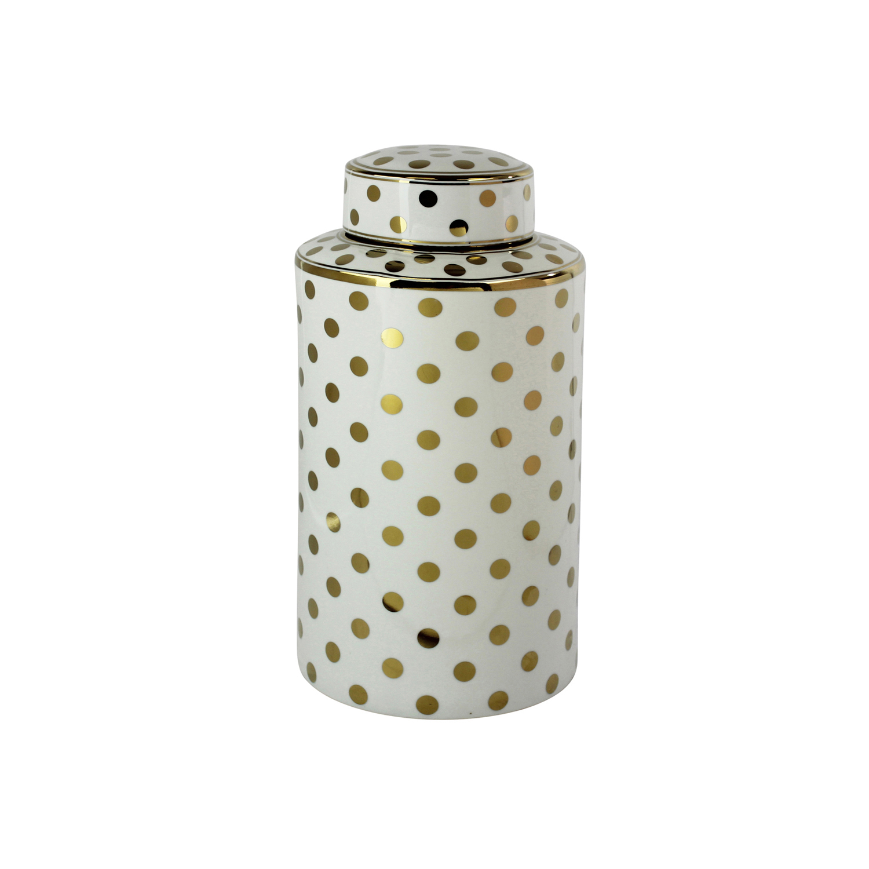 White Elegant Glam Decorative Covered Jar
