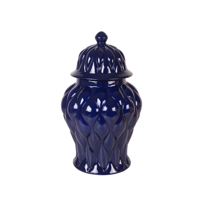 Modern Quilt Texture Covered Jar