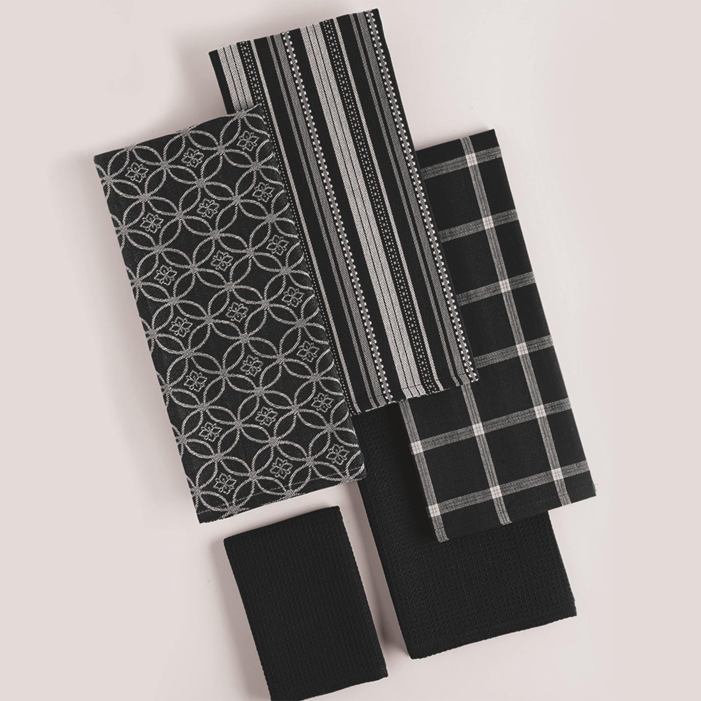 Black Dishtowel & Dishcloth Assorted Set