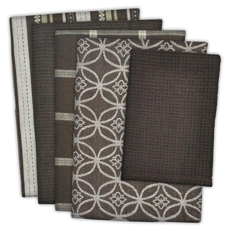 Brown Assorted Dishtowel & Dishcloth Set