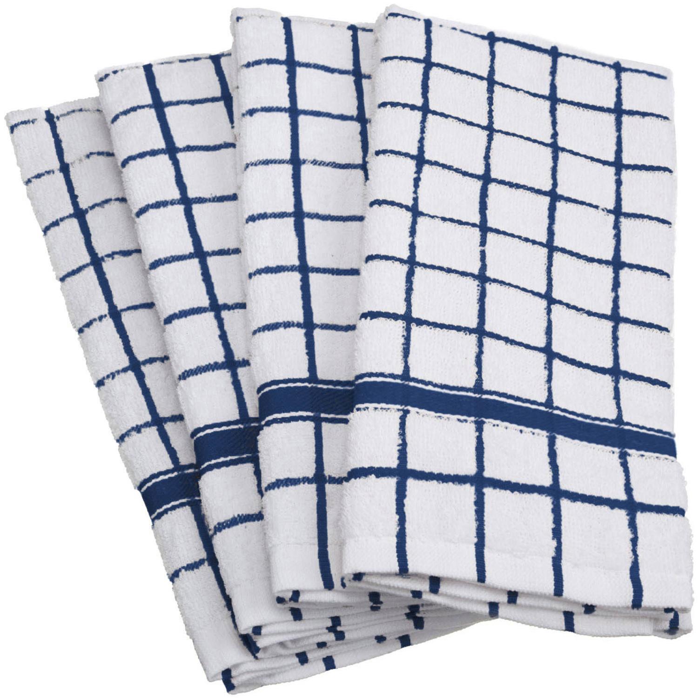 Blue Grid Dishtowel Set