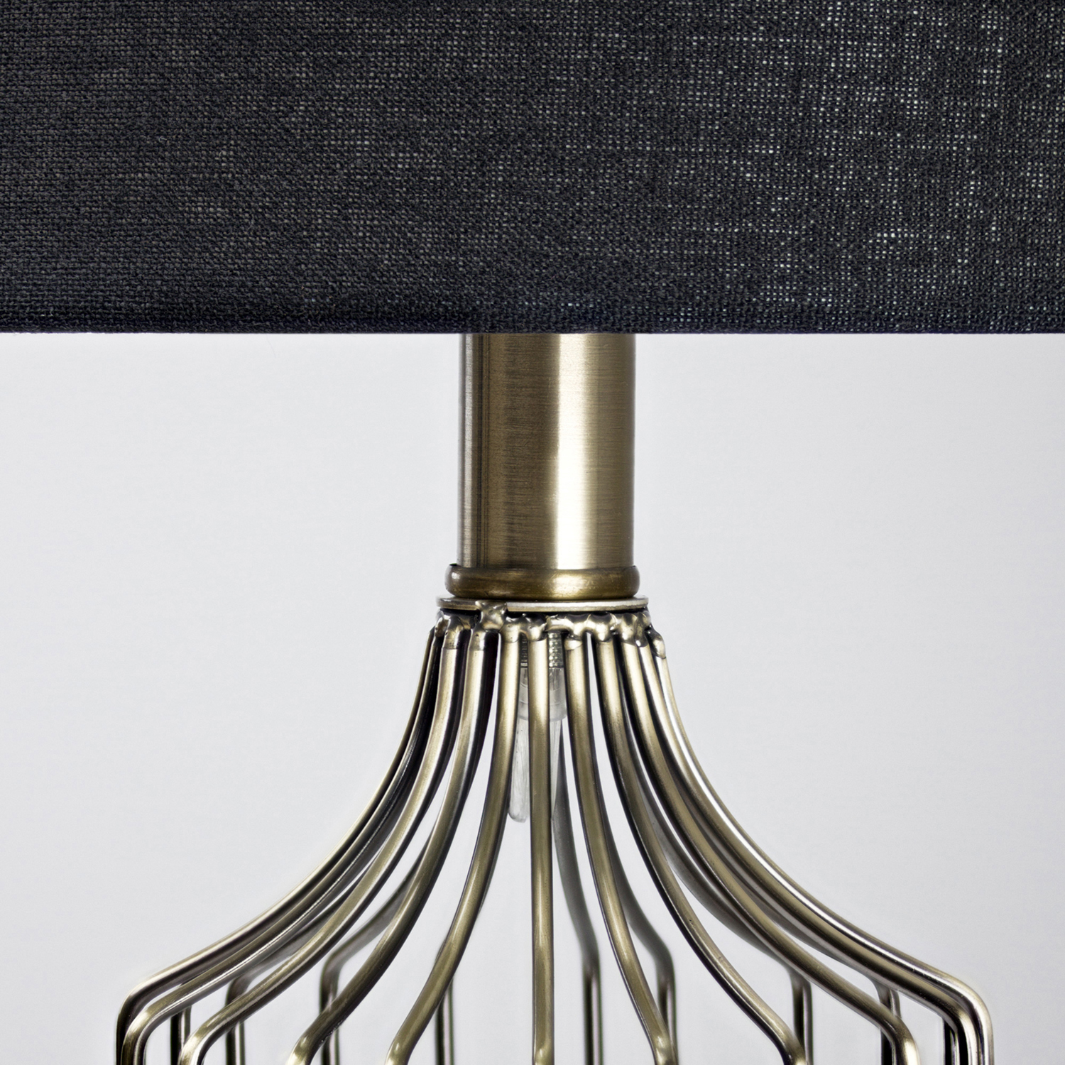 Wireframe Metal Table Lamp