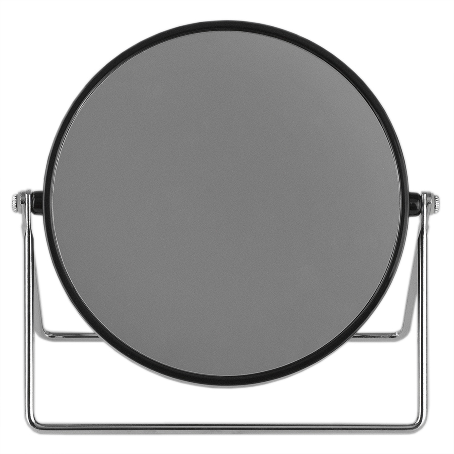 Black Cosmetic Mirror with Sleek Stand