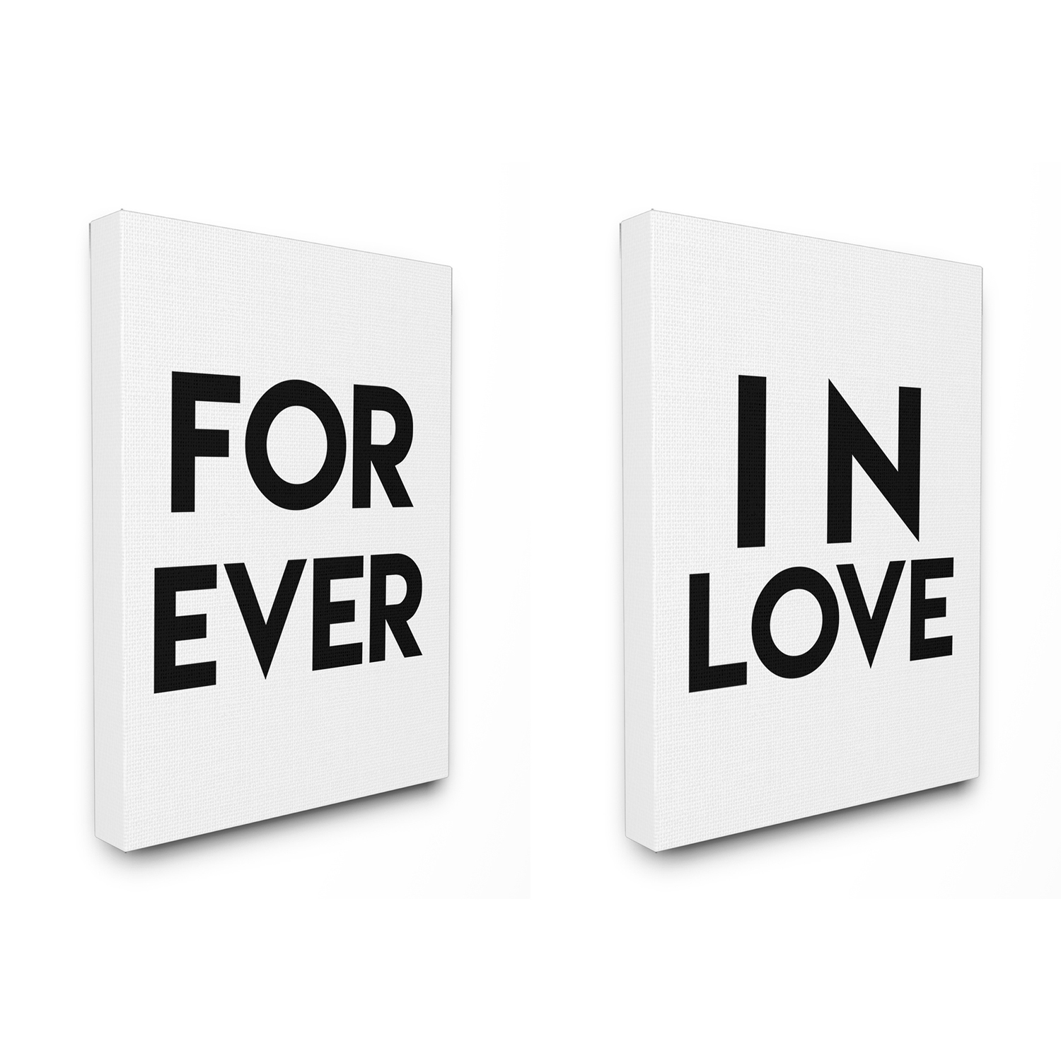 For Ever In Love Stretched Canvas Set