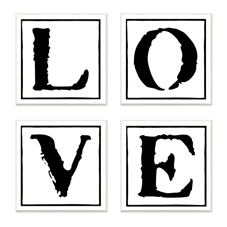 Love 4 Piece Wall Plaque