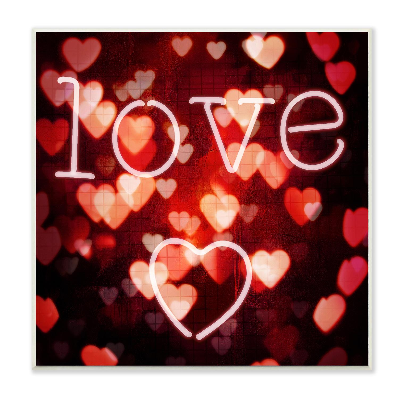 Heart Lights Plaque Art