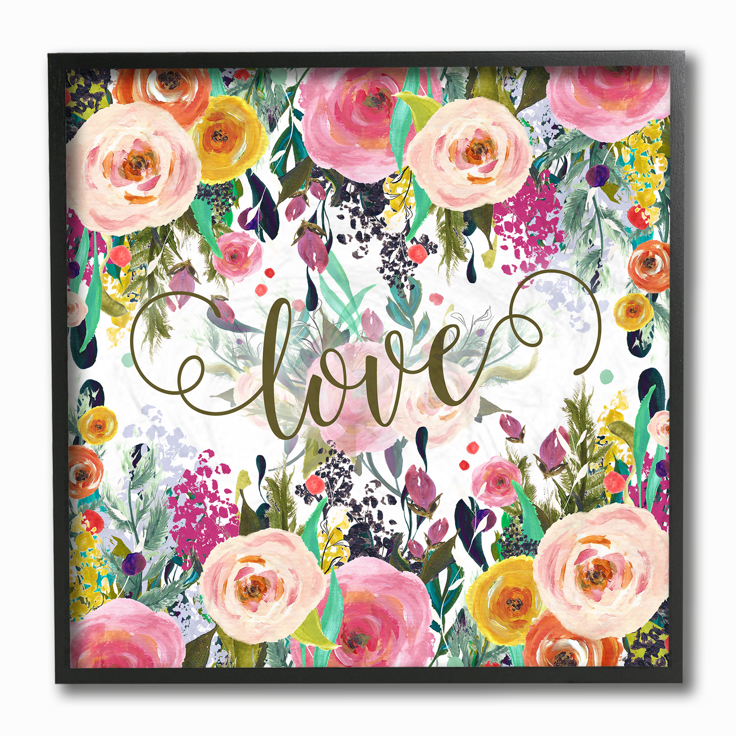 Floral Love Framed Wall Art