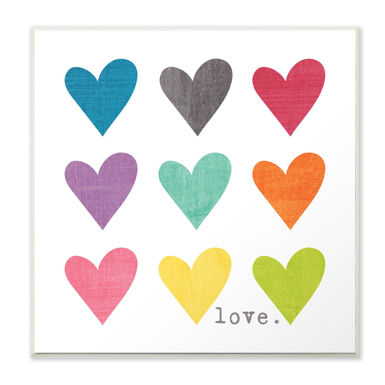Vibrant Hearts Wall Plaque