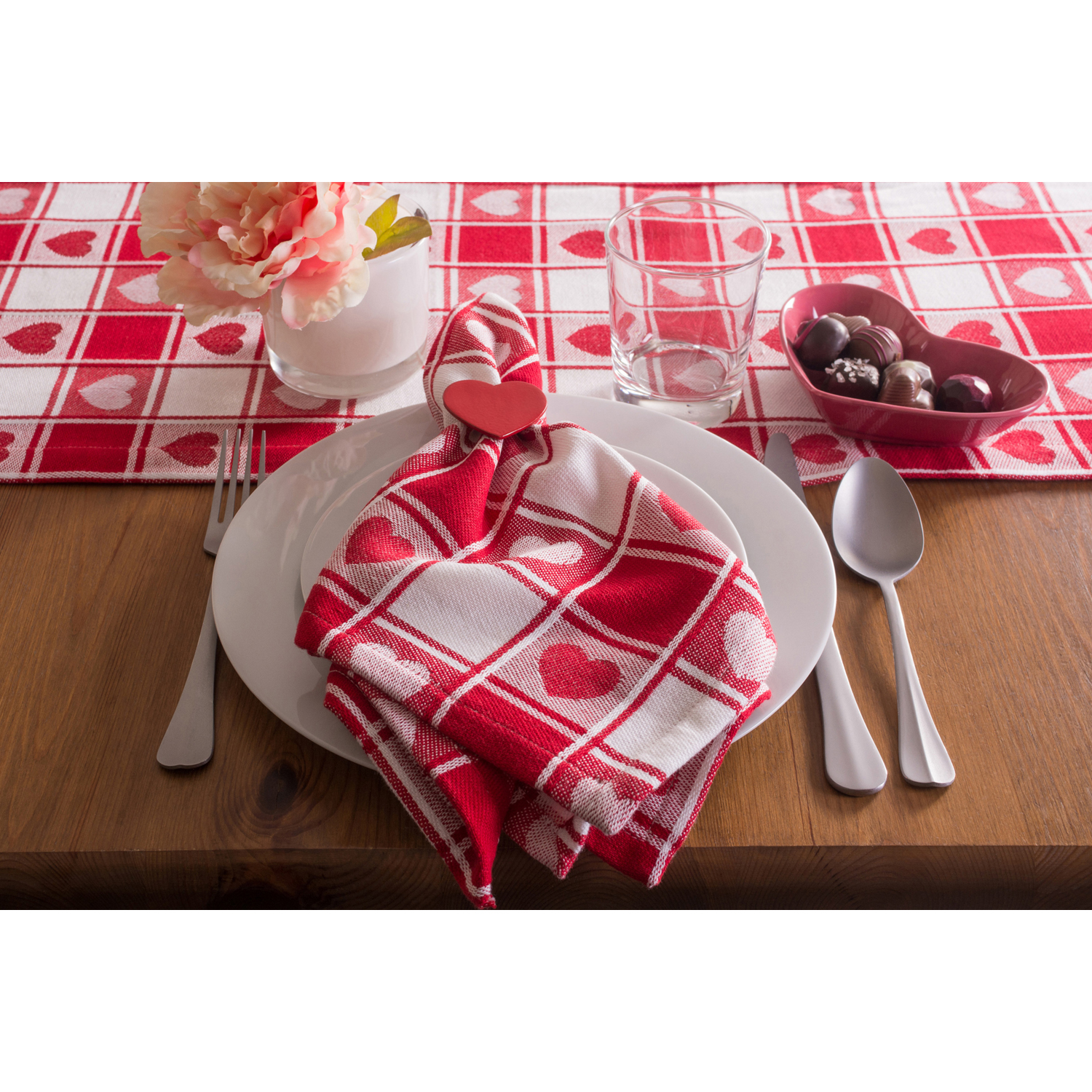variation thumbnail of Valentine's Day Picnic Pink Napkin Set 6
