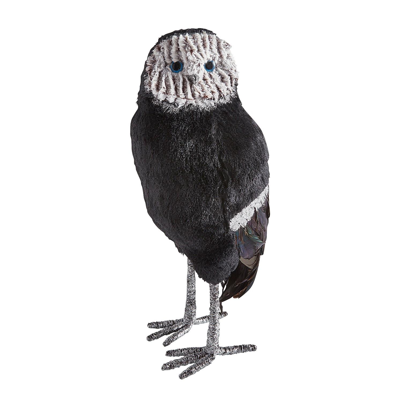 "Glittered Black & White 20"" Owl"