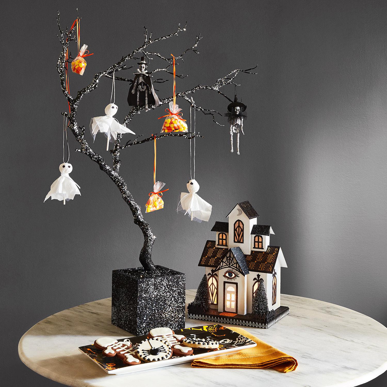"Glittered Twig 36"" Halloween Tree"