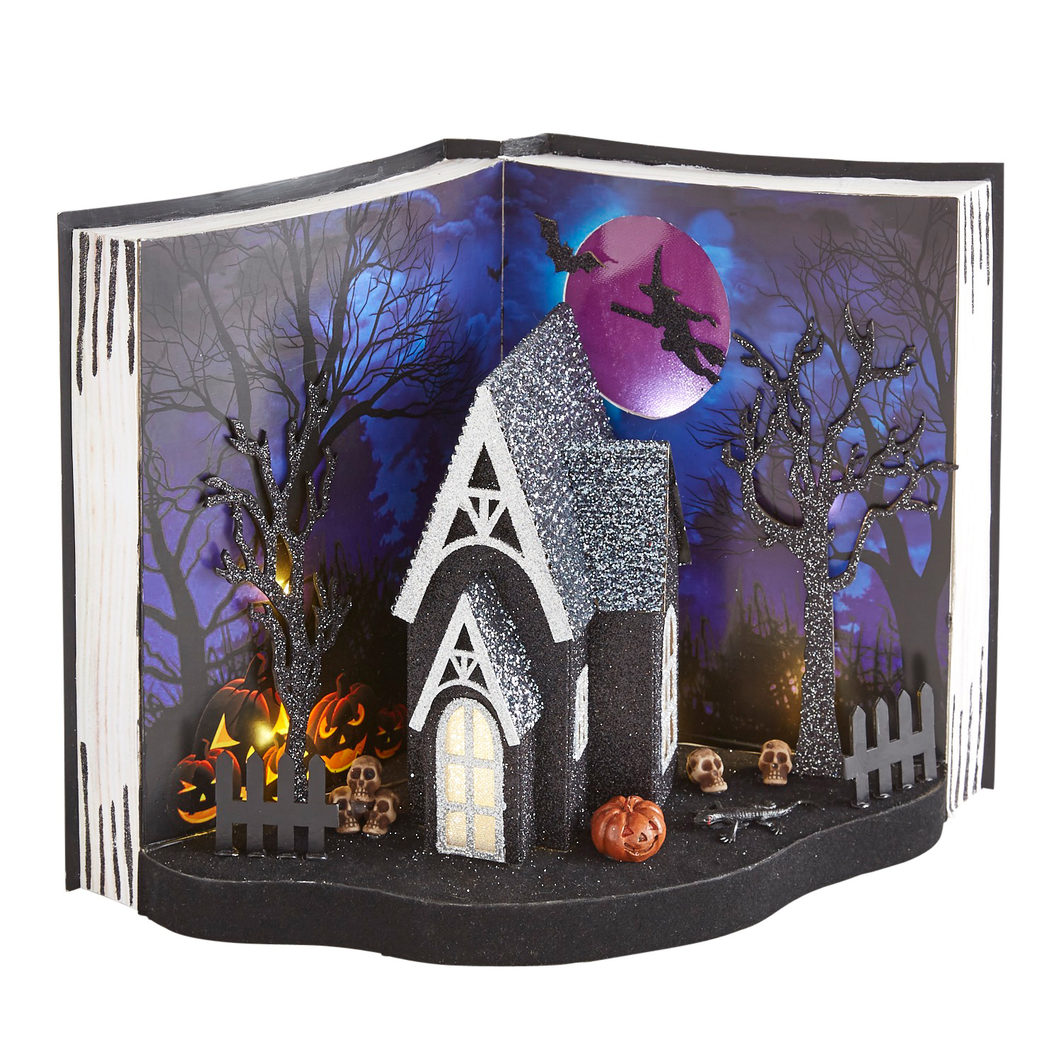 LED Light-Up Halloween Haunted House Book