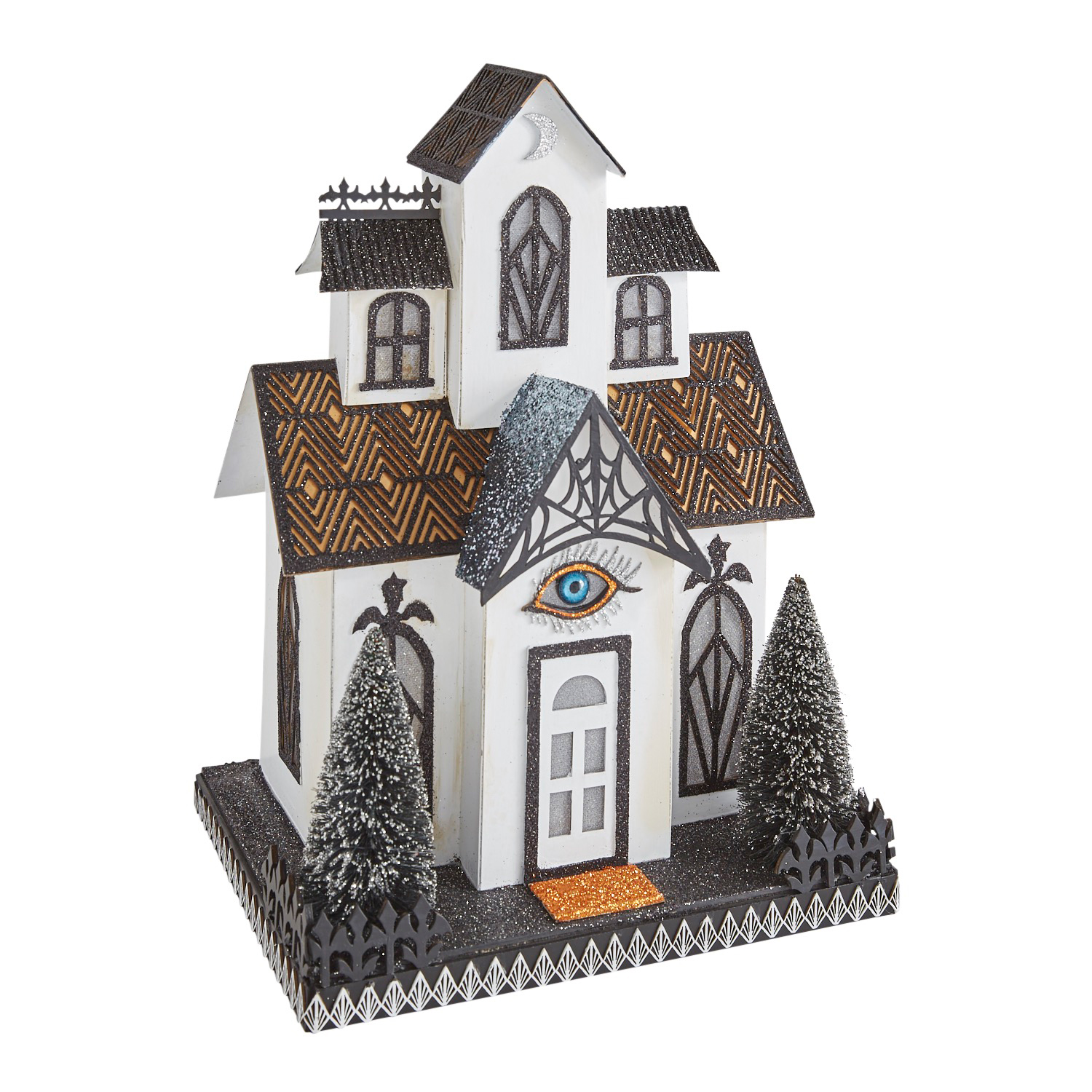 LED Light-Up White Halloween Haunted House