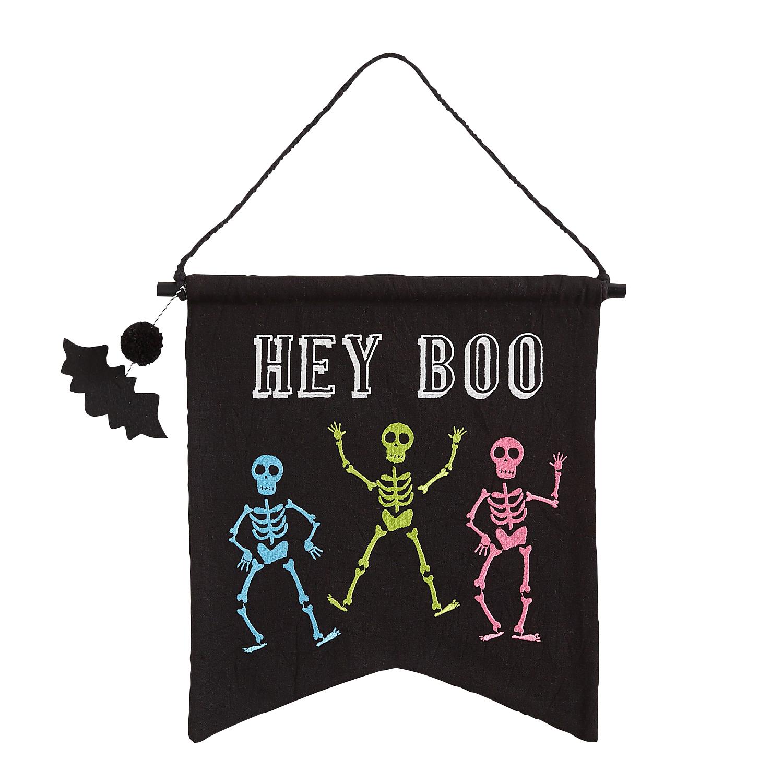 Hey Boo Halloween Wall Hanger