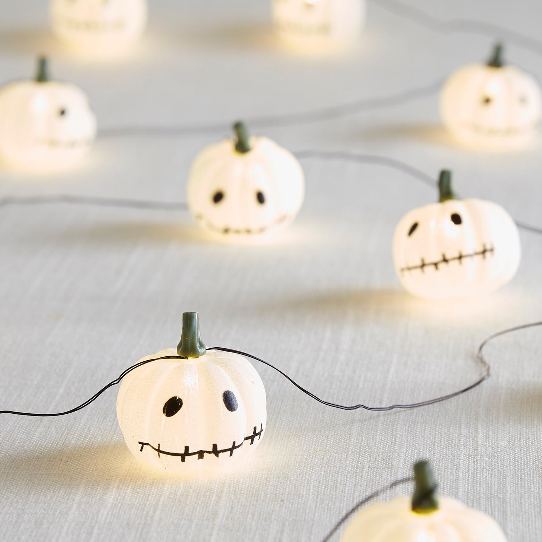 Stitched Pumpkin 10' LED Glimmer Strings®