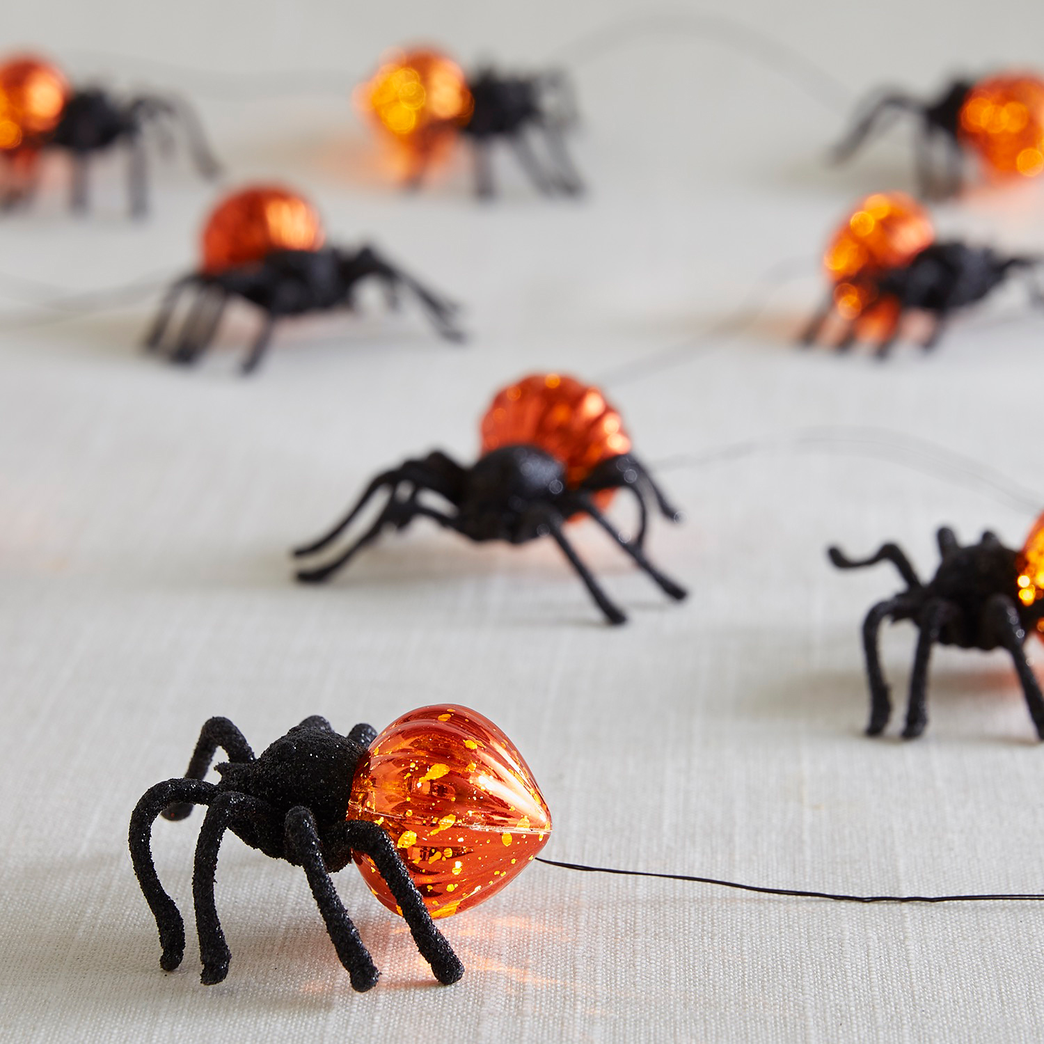 Halloween Spiders 10' LED Glimmer Strings®