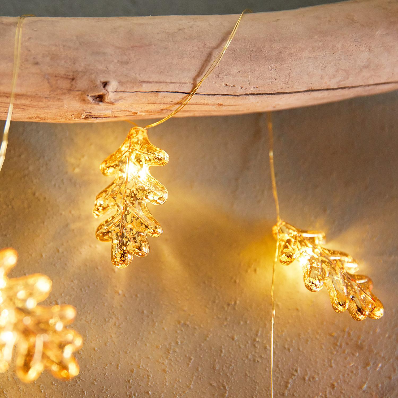 Gold Mercury Leaf 10' LED Glimmer Strings®