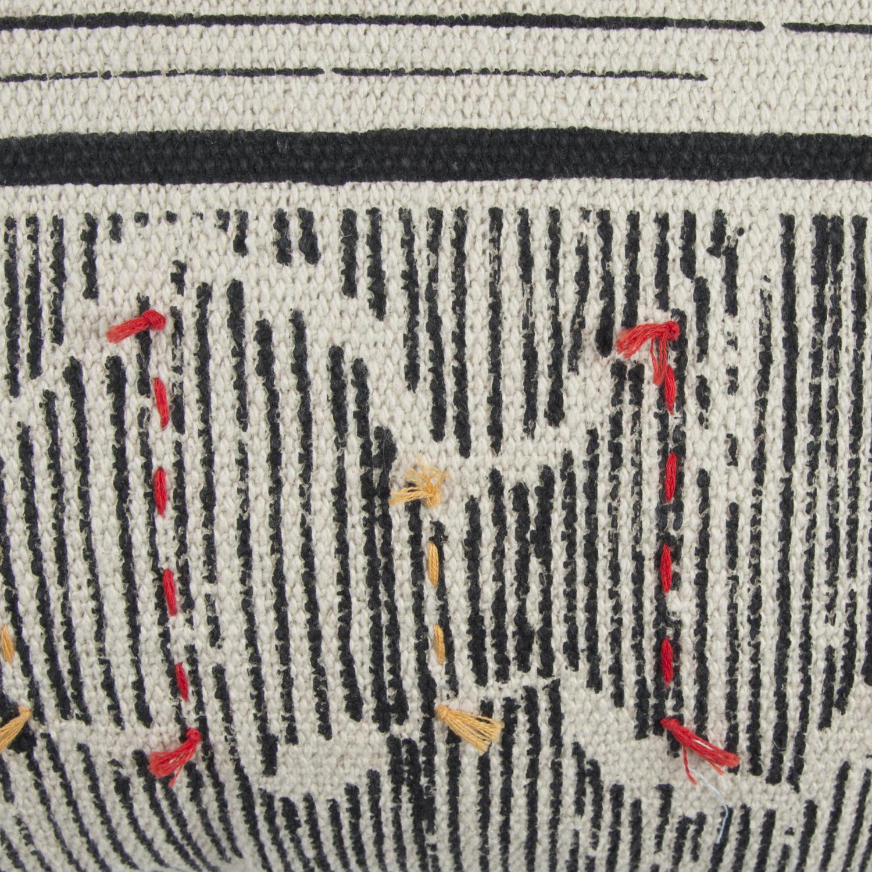 Boho Striped Black Pillow Cover