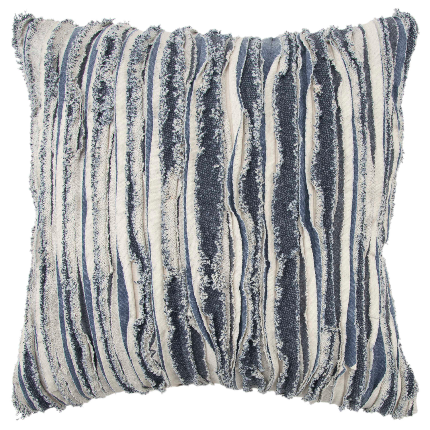 variation thumbnail of Ruffled Recycled Denim Throw Pillow