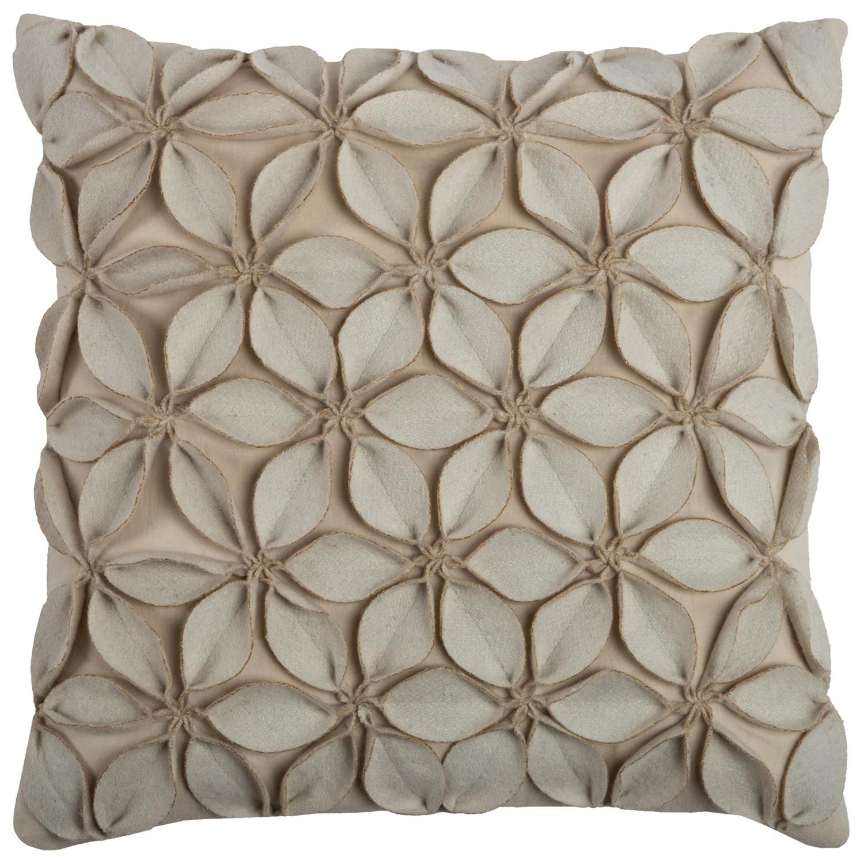 Botanical Petals Cream Pillow Cover