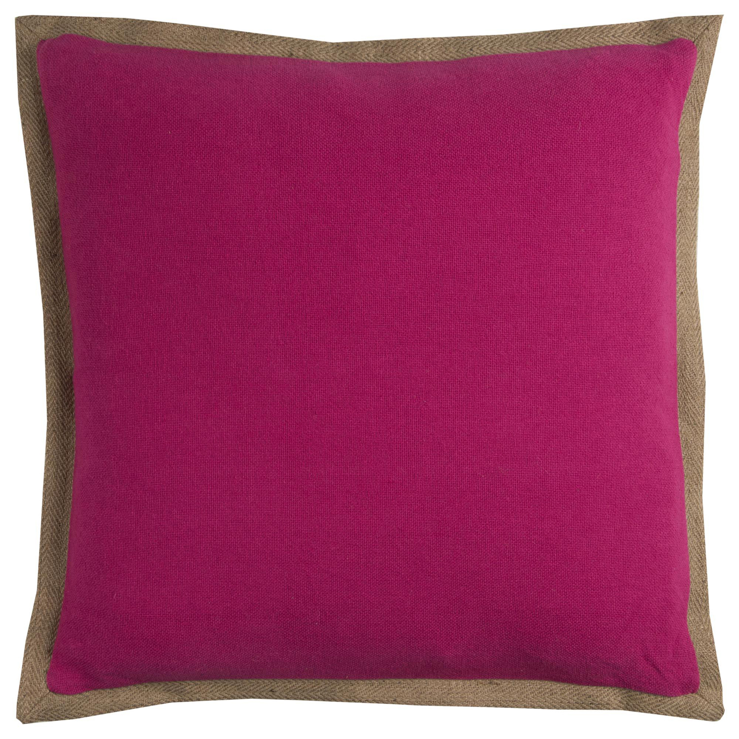 Trimmed Solid Dark Pink Pillow Cover