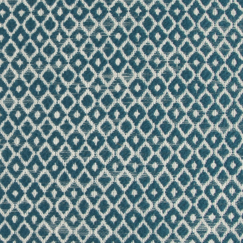 Geometric Woven Textured Dark Teal Throw Pillow
