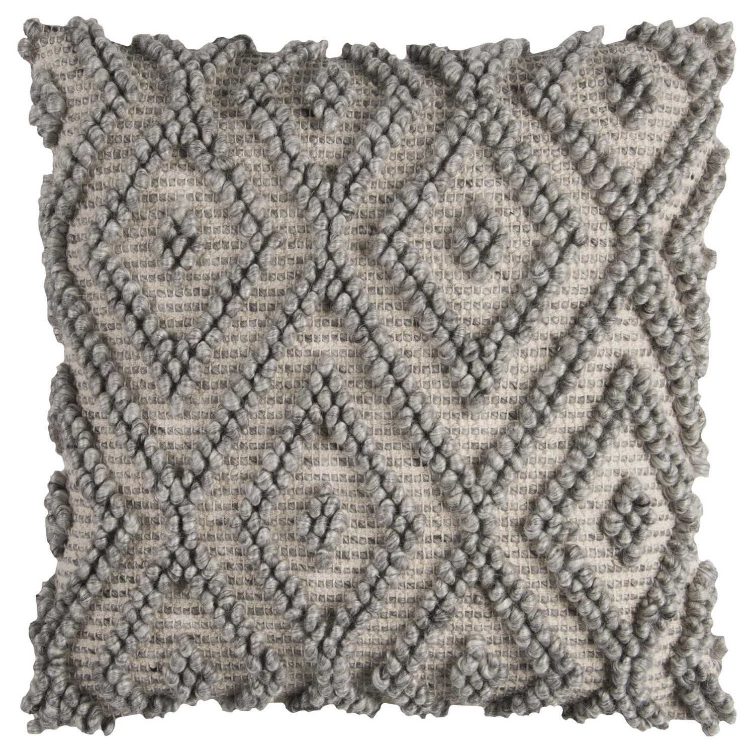 Chunky Geometric Gray Pillow Cover