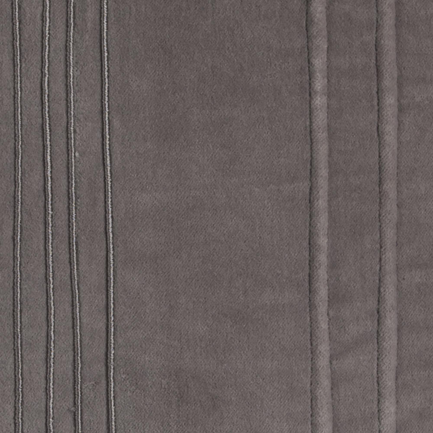 Solid Striped Dark Gray Pillow Cover