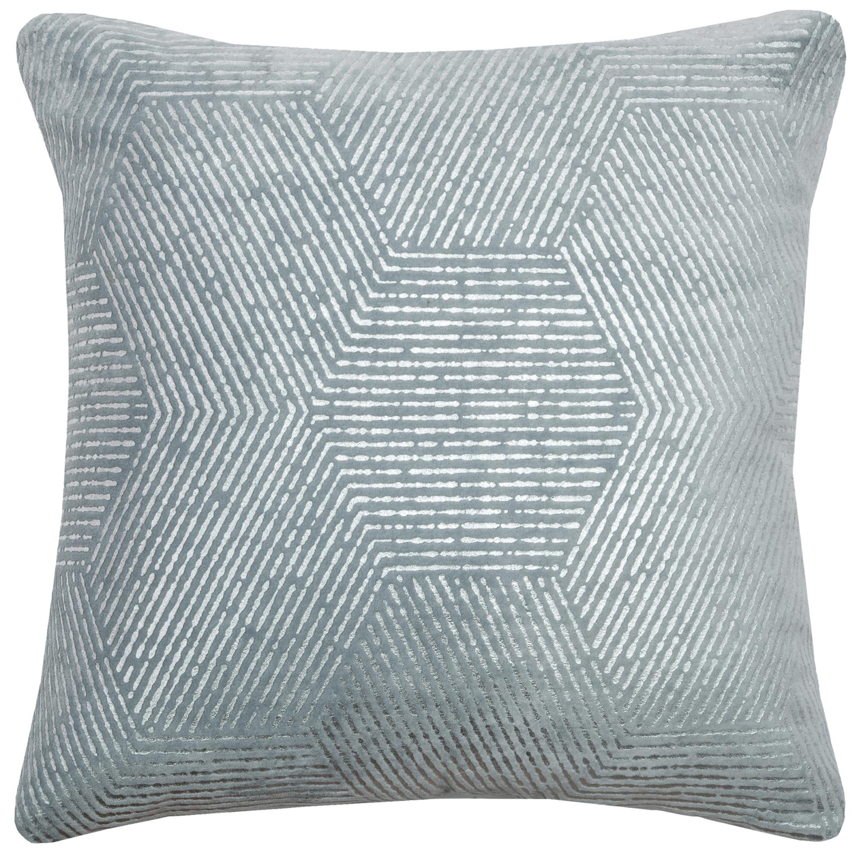 Impressionistic Hexagon Light Blue Pillow Cover