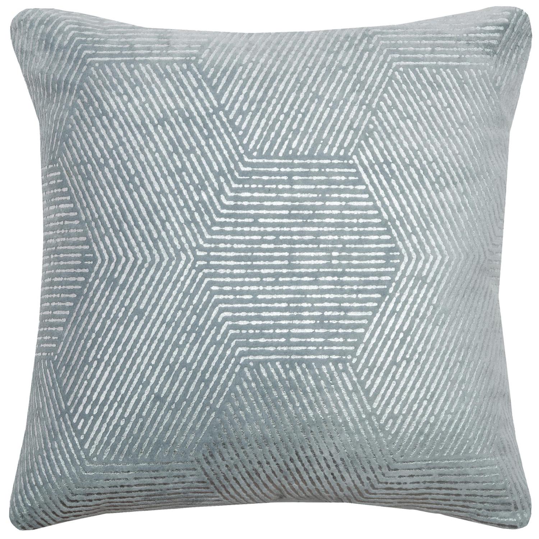 Impressionistic Hexagon Light Blue Throw Pillow