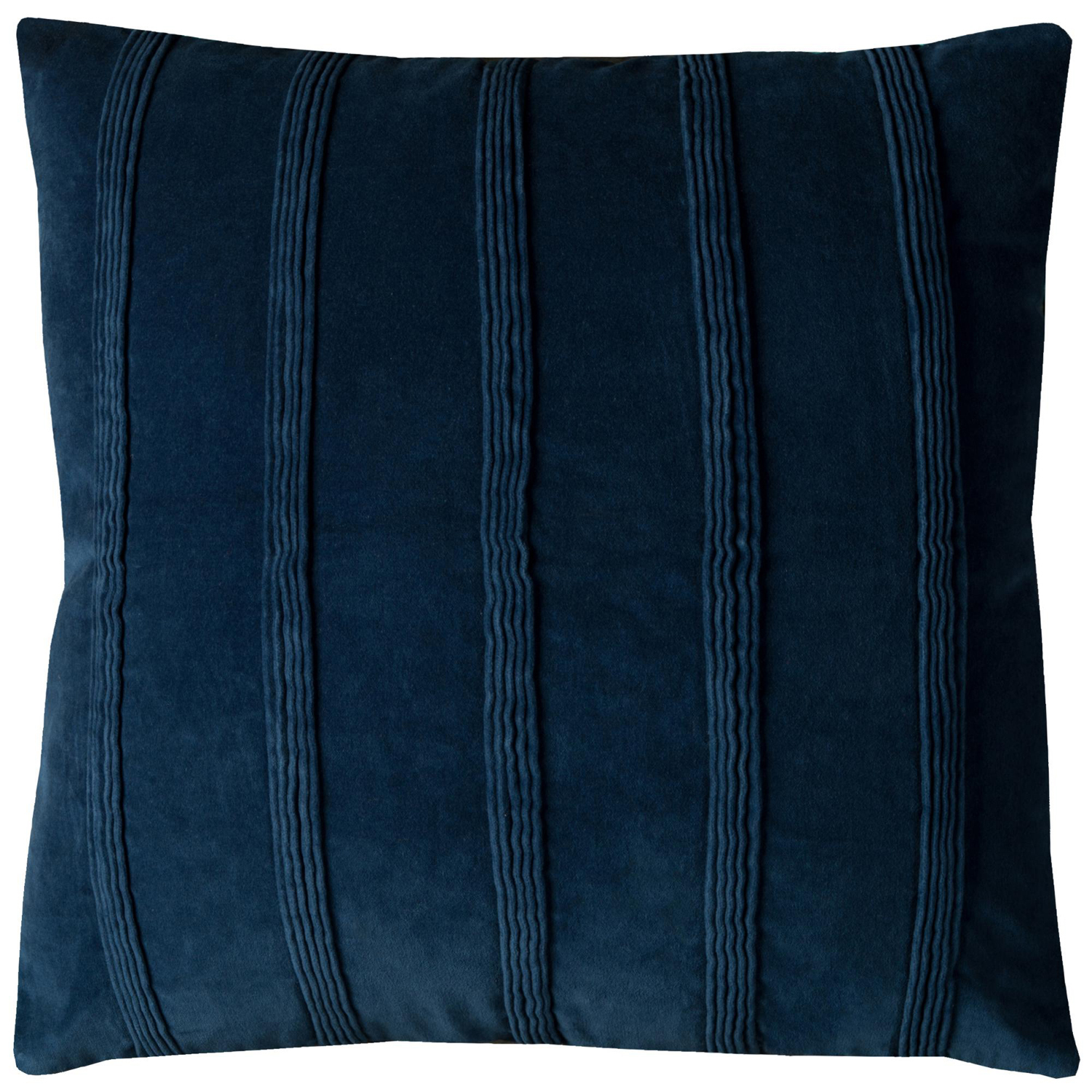 Solid Striped Navy Throw Pillow