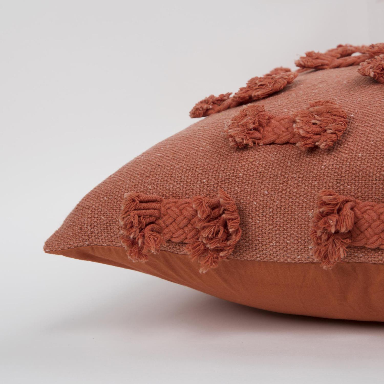 Abstract Striped Orange Throw Pillow