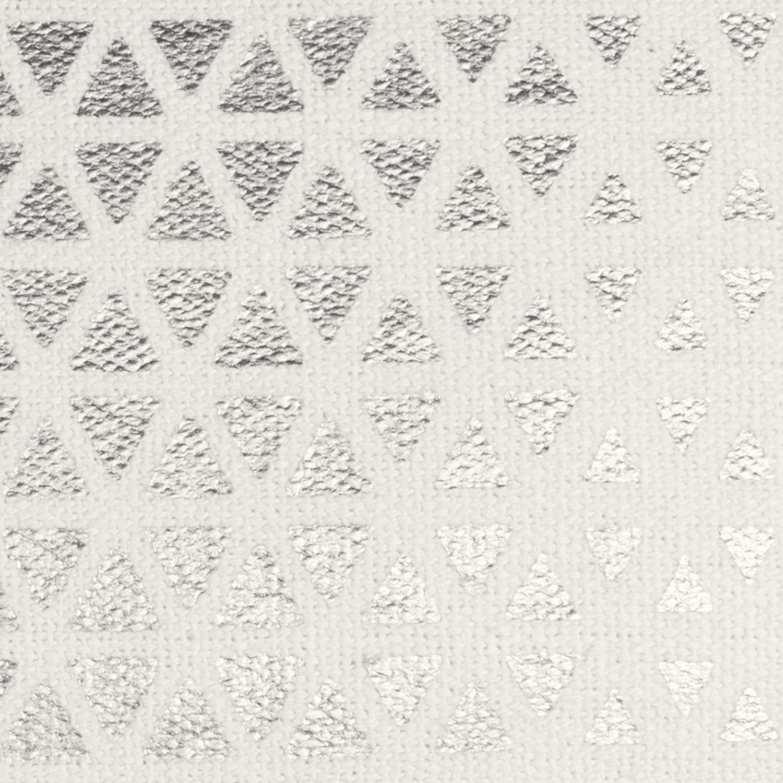 Textured Foil Diamond Silver Pillow Cover