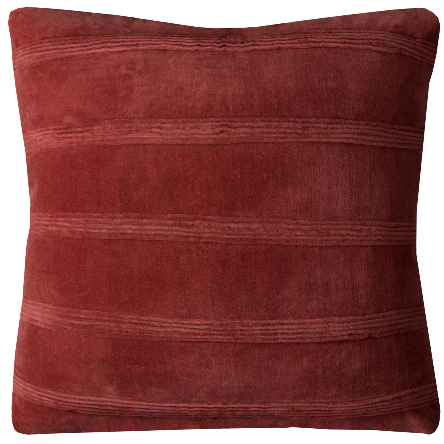 Solid Striped Rust Pillow Cover