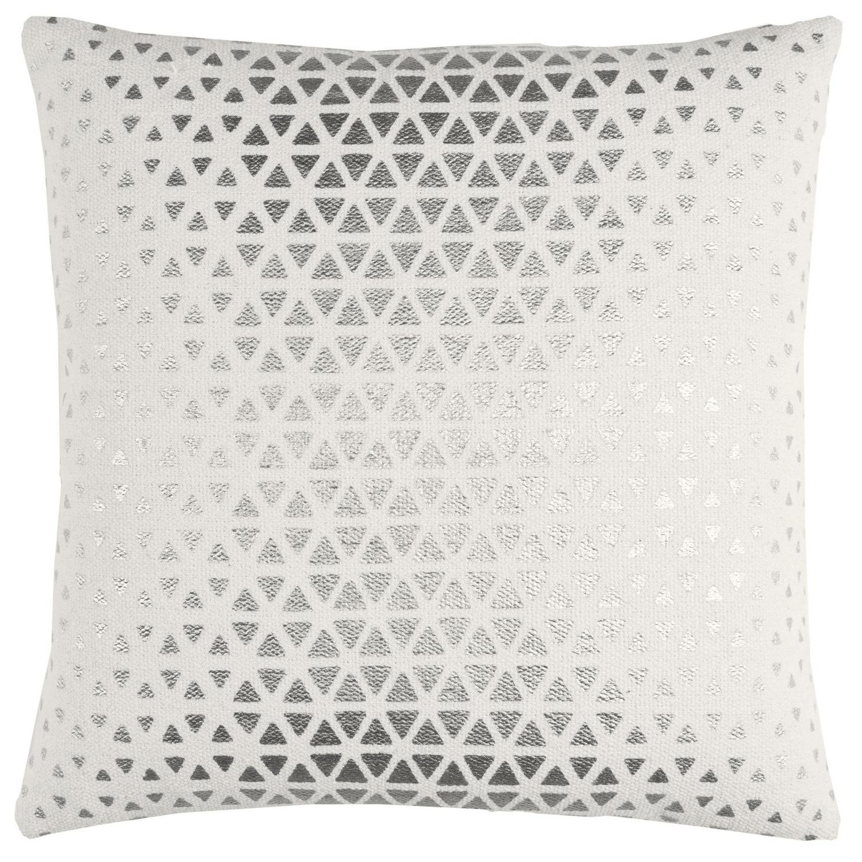 Textured Foil Diamond Silver Throw Pillow