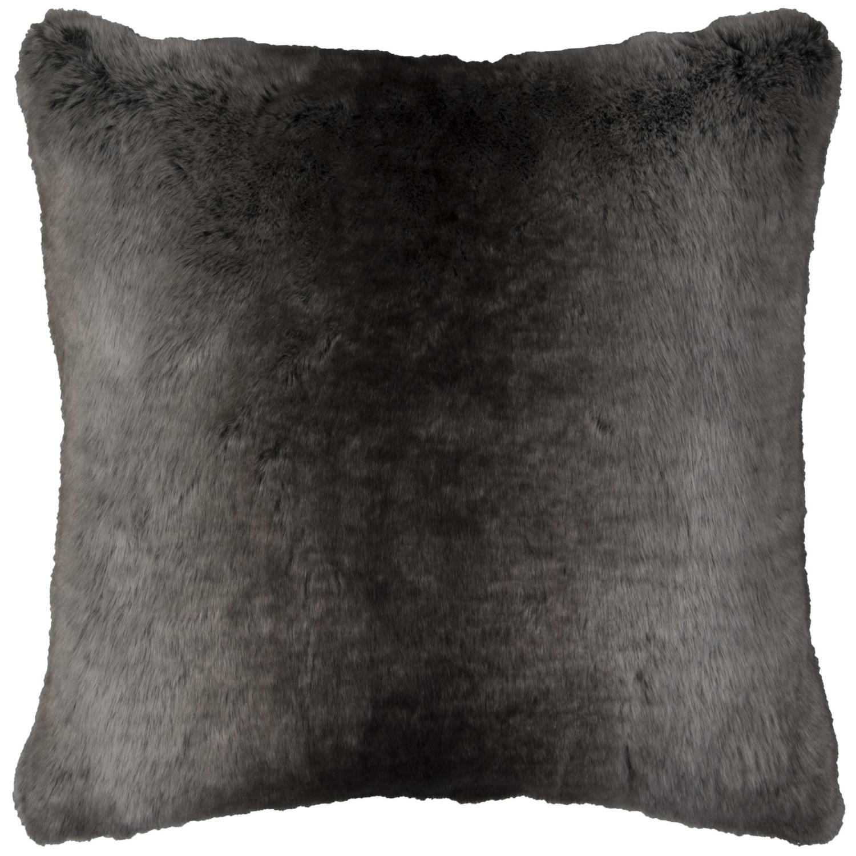 Faux Fur Taupe Throw Pillow