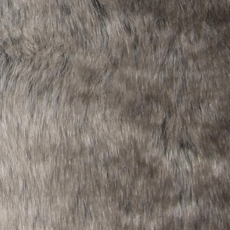 Faux Fur Taupe Lumbar Pillow Cover
