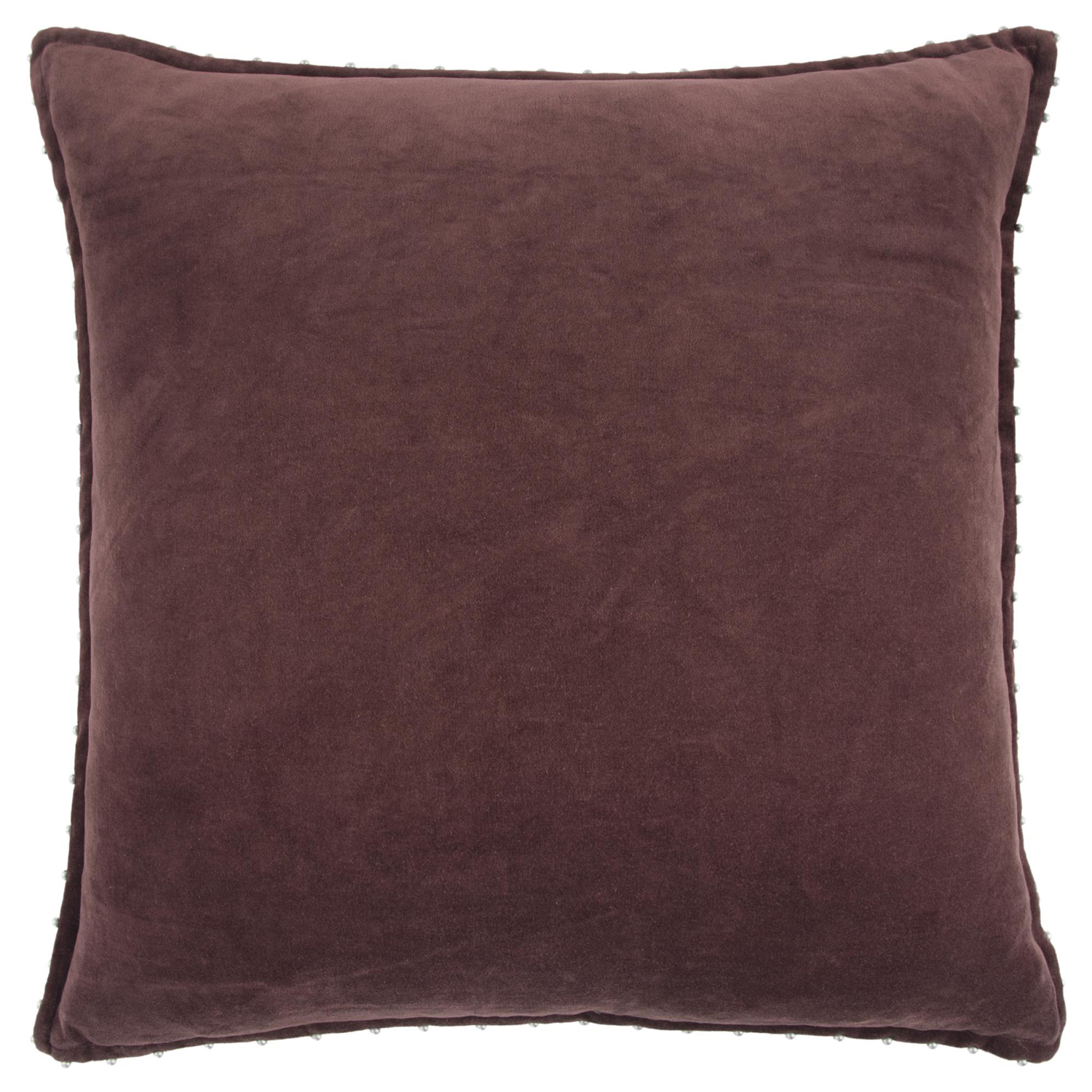 Beaded Solid Wine Pillow Cover