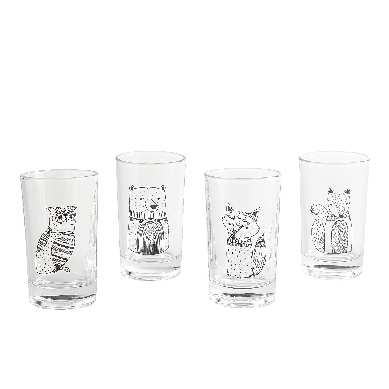 Modern Critter Juice Glass Set