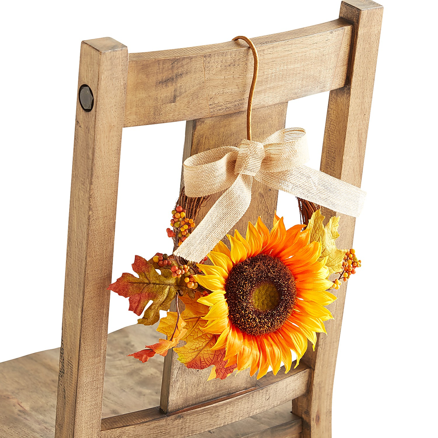 Faux Sunflower Hanging Chair Decor