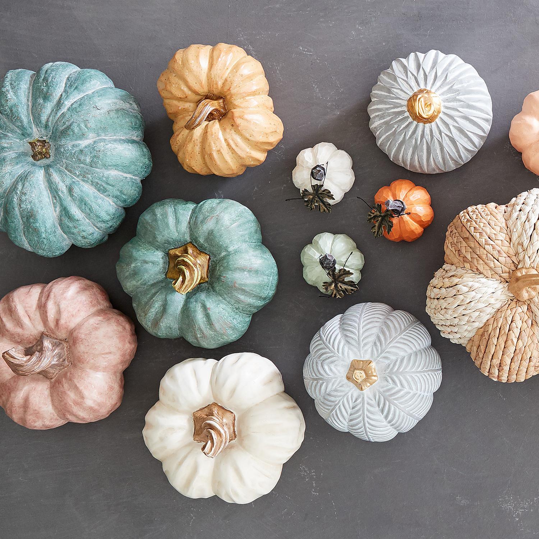 "Herringbone Gray 6.5"" Pumpkin"